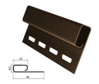 Финишная планка (завершающая полоса) коричневая для сайдинга