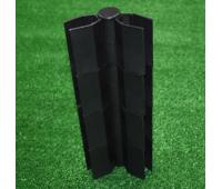 Угол поворотный от 60°  до 300°  пластик для доски 300х30 из ДПК Чёрный