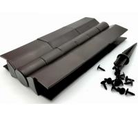 Угол поворотный от 60°  до 300°  пластик для доски 225х30 из ДПК Коричневый