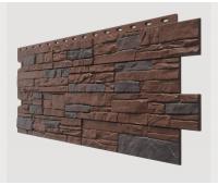 Фасадные панели (цокольный сайдинг) , Stein (песчаник), Dunkelstein Tемный орех