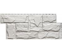 Фасадные панели (цокольный сайдинг) коллекция Гранит Леон - Белый