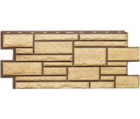 Фасадные панели (цокольный сайдинг) коллекция Дикий камень - Желтый