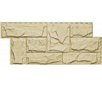 Фасадные панели (цокольный сайдинг) коллекция Гранит Леон - Желтый