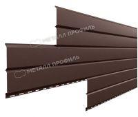 Металлический сайдинг Lбрус-15х240 (PURMAN-20-8017-0.5) Коричневый шоколад